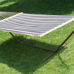 Phat Tommy - Phat Tommy 12-foot Hammock and Stand - This Phat Tommy Hammock and stand set brings style and relaxation to any deck,patio or backyard. The hammock is made of polyester and the stand is made from powder coated steel.