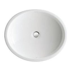 KOHLER - KOHLER K-2874-0 Canvas Cast Iron Undermount Bathroom Sink - KOHLER K-2874-0 Canvas Cast Iron Undermount Bathroom Sink in White