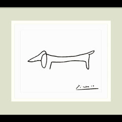 Le Chien (The Dog) Framed Print by Pablo Picasso