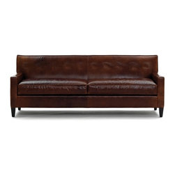 Dexter Leather Collection Sofa, No Buttons - I'm so thankful I got a leather sofa a few years ago because it's so easy to keep clean through all the baby stages: from newborn spit-up to toddler messes.