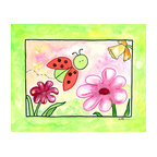 Oh How Cute Kids by Serena Bowman - Lazy Dasiy Ladybug, Ready To Hang Canvas Kid's Wall Decor, 24 X 30 - Each kid is unique in his/her own way, so why shouldn't their wall decor be as well! With our extensive selection of canvas wall art for kids, from princesses to spaceships, from cowboys to traveling girls, we'll help you find that perfect piece for your special one.  Or you can fill the entire room with our imaginative art; every canvas is part of a coordinated series, an easy way to provide a complete and unified look for any room.