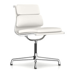 Herman Miller - Herman Miller Eames Soft Pad Armless Side Chair | Smart Furniture - A crisp, midcentury modern classic for your space. This beautiful side chair embraces elegance — and comfort. It features a pad for the seating area and a dual-tiered cushion backrest.