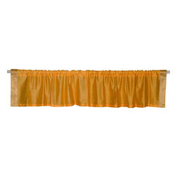 Indian Selections - Pair of Mustard Rod Pocket Top It Off Handmade Sari Valance, 60 X 20 In. - Size of each Valance: 60 Inches wide X 20 Inches drop. Sizing Note: The valance has a seam in the middle to allow for the wider length