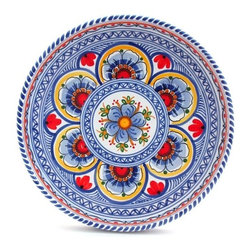 "Spanish High Sided Majolica 11"" Decorative Plate - Spanish High Sided Majolica 11"" Decorative Plate"