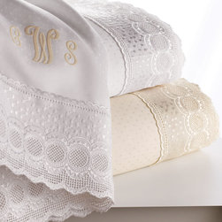 SFERRA - Marcus Collection Lace-Trimmed Twin Sheet Set Plain - WHITE - SFERRAMarcus Collection Lace-Trimmed Twin Sheet Set PlainDesigner About Sferra:The story of Sferra begins at the turn of the 19th century when Gennaro Sferra left Italy for the United States in the hopes of finding a market among the Atlantic Coast for his intricate Venetian lace cuffs and collars. By 1912 he and his family had opened up shop on famed Fifth Avenue in New York City. A generation later Gennaro's two sons expanded their family's collection to include the most luxurious European linens of the day from renowned double damask from Ireland to Alençon laces from France to elaborate embroideries from Belgium and Switzerland. In 1977 the ownership of Sferra was sold by the family to Paul Hooker under whose keen business savvy and passionate stewardship this classic brand has flourished over the years. With the aid of great advancements in design and production techniques Sferra has secured its rightful position as a leader in the luxury linens industry. Above all the secret to the enduring reputation of the Sferra brand is the same now as it was a century ago only the finest materials are used in any product bearing the Sferra name.