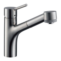Hansgrohe - Hansgrohe Talis S Single-Hole Pull-Out Spray Kitchen Faucet (06462860) - Hansgrohe 06462860 Talis S Single Hole Kitchen