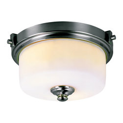 Trans Globe - Trans Globe 7923 BN 2-Light Flush Mount - Trans Globe 7923 BN 2-Light Flush Mount