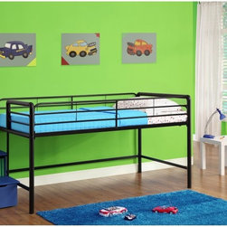Dorel Home - DHP Junior Loft with Steps and Storage - Blue - 5512198 - Shop for Bunk Beds from Hayneedle.com! Your child will love hanging out and playing under the DHP Junior Loft with Steps and Storage - Blue. Kids can keep toys and other items underneath the bed as well. And for even more storage the stairs to the loft bed double as storage boxes. Moms and dads will like this versatile bed too because it will help keep their little girl's room organized and neat. Plus there's no need for a box spring since the frame supports a standard twin-size mattress.About Dorel IndustriesFounded in 1962 Dorel Industries is a family of over 26 brands including bicycle brands Schwinn and Mongoose baby lines Safety 1st and Quinny as well as home furnishing brands Ameriwood and Altra Furniture. Their home furnishing division specializes in ready-to-assemble pieces including futons microwave stands ladders and more. Employing over 4 500 people in 17 countries and over four continents Dorel is renowned for their product diversity and exceptionally strong commitment to quality.
