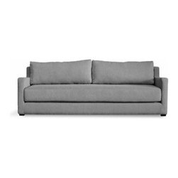 Gus Modern - Gus Modern | Flip Sofabed - Design by Gus* Modern. The Flip Sofabed's unique design allows it to effortlessly convert from a stylish, modern sofa to a Queen-sized bed with one quick flip. It features a pre-shrunk, machine-washable cotton top sheet which easily fastens to the bed with Velcro strips. Constructed with FSC-Certified Wood, in support of responsible forest management. Available in several different upholstery colors.