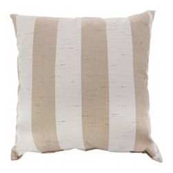 """Sunbrella® 24""""x24"""" Square Designer Pillow, Decade Sand - Making the best relaxation that much better! Soft. Plush. Vibrant. Attractive. Durable. Colorfast. These pillows promise lasting outdoor comfort you won't want to take your eyes or head off of! The stylish 24""""x24"""" Sunbrella® Decade Sand Square Designer Pillow is sure to liven up any backyard and to provide instant comfort for relaxation. Perfect for hammocks, benches, chairs, sofas, futons, chaise lounges, and more."""