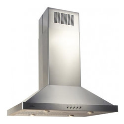 """Elica - EEG642SS Egadis Series 42"""" Island Chimney Range Hood  600 CFM Internal Blower  4 - Elica brings you the Egadis series EEG642SS 42 island mount chimney range hood with 600 CFM internal blower This range hood features 4 blower speeds making it easy for you to choose the right settings you need The mechanical push button controls are ..."""