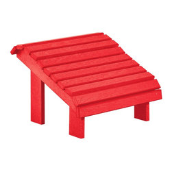 C.R. Plastic Products - C.R. Plastics Premium Footstool In Red - Can be used for residential or commercial use, Ergonomically designed, Heavy 78 gauge plastic lumber 12 used by competitors, All stainless steel hardware, No painting, No slivers, No Rot, Completely waterproof