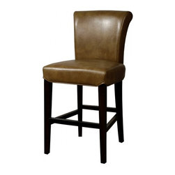 NPD (New Pacific Direct) Furniture - Bentley Barstool (Set of 2) by NPD Furniture, Molasses Bonded Leather, Counter H - Bentley barstool - need a little something to complete your dining style/look? This simple, yet stylish, solid birch wood barstool will be great to add to your dining room or kitchen. Available in bonded leather or genuine split leather upholstrey.