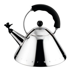 Alessi - Kettle with Bird Whistle - Kettle with Bird Whistle by Alessi. This little birdy will whistle when your water reaches its boiling point.Also available on: