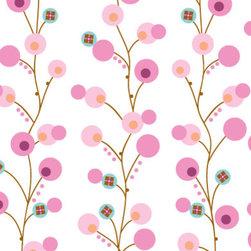 Caden Lane - Modern Vintage Pink Twiggy Crib Sheet - Crib Sheet - Pink Twiggy