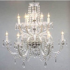 "Amazon.com: Chandelier Lighting Crystal Chandeliers H27"" X W32"": Home Improvemen"