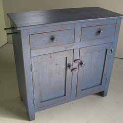 Blue Bathroom Vanity - Reclaimed wood Bathroom Vanities are beautifully classic and durable pieces. These pieces can be customized to look sleek or rustic but always are casually elegant. www.lakeandmountainhome.com 978-505-3222