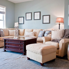 Traditional Family Room by Coastal Haven Design