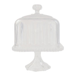 The Godinger Company - Square Crystal Footed Cake Dome - An elegant and practical way to serve and keep your pastries fresh and ready to enjoy. This intricate cake dome will look lovely atop your table or buffet island filled with treats to share.