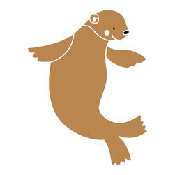 My Wonderful Walls - Sea Lion Stencil for Painting - - 2-piece sea lion stencil