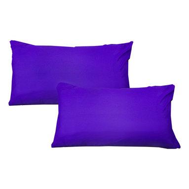 Store51 LLC - Solid Color Pillowcase Set Plain Pillow Covers, Purple - Features: