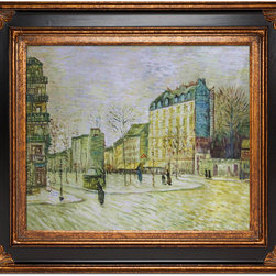 "overstockArt.com - Van Gogh - Boulevard De Clichy - 20"" X 24"" Oil Painting On Canvas Hand painted oil reproduction of a famous Van Gogh painting, Boulevard de Clichy . The original masterpiece was created in 1887. Today it has been carefully recreated detail-by-detail, color-by-color to near perfection. Vincent Van Gogh's restless spirit and depressive mental state fired his artistic work with great joy and, sadly, equally great despair. Known as a prolific Post-Impressionist, he produced many paintings that were heavily biographical. This work of art has the same emotions and beauty as the original. Why not grace your home with this reproduced masterpiece? It is sure to bring many admirers!"