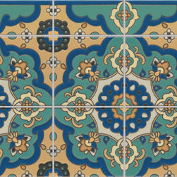 Rellatta - Add an eye-catching blanket of pattern to an all white kitchen with a densely patterned tile like Rellatta.