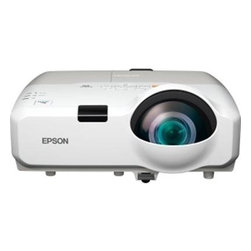 "EPSON AMERICA - PROJECTOR, POWERLITE 430, XGA, - Captivate any classroom or conference room with ultra bright images from the PowerLite 430, a powerful short-throw projector that is ideal for wall-mount installations or use with interactive whiteboards. This short-throw projector minimizes shadow interference and glare, to ensure optimum viewing of your presentations. Project an 80"" image from just 2.9 feet away. Get bright, vivid images with 3000 lumens of color / white light output. The PowerLite 430 is equipped with a microphone input and a premium 16W speaker to enhance any lesson with clear, powerful audio. HDMI connectivity and advanced networking capabilities offer even more flexibility for teaching scenarios today and in the future."