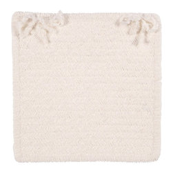 Colonial Mills - Colonial Mills Simple Chenille Chair Pad - 15 x 15 in. - M301A015X015S - Shop for Cushions and Pads from Hayneedle.com! The perfect complement to any indoor dining space the Colonial Mills Simple Chenille Chair Pad - 15 x 15 in. comes in a number of textured colors is reversible and is made of a soft chenille. These square chair pads can be used in formal and casual dining areas. Choose one to mix and match with other chair pads or a set of four. About Colonial MillsThe resurgent popularity of braided texture comes as no surprise to Colonial Mills Inc. (CMI). For the past several years CMI has developed new colors and styles that will capture the home decorating imagination of just about anyone. CMI considers a braid as a method of construction not a style. Braided construction adds a distinctive look and premium durability to rug styles ranging from contemporary to traditional. Creating exceptional rugs and providing superior customer service is a team effort at CMI proudly recognized as a trusted supplier to the best-known retailers in the United States today.
