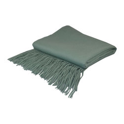 "Pur by Pur Cashmere - Signature Blend Throw Spa 50""x65"" With 6"" Fringe - Signature cashmere blend throw 10% cashmere / 80% wool / 10% microfine Dry clean only. Inner mongolia."