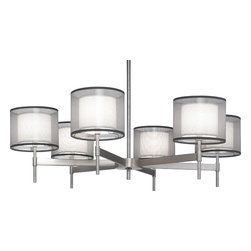 Robert Abbey - Saturnia Chandelier, Stainless Steel - -6-60W Max.