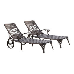 Home Styles - Home Styles Biscayne Black Chaise Lounge Chairs Set of 2 - Home Styles - Patio Lounges - 5554832 - Create an intimate conversation area with Home Styles Biscayne Chaise Lounge Chair.