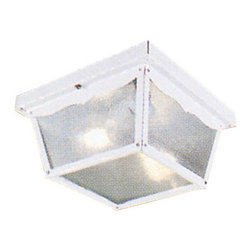 Livex Lighting - Livex Lighting 7502 2 Light 120W Flushmount Ceiling Light - 2 Light 120W Flushmount Ceiling Light with Medium Bulb Base and Clear Beveled Glass from Outdoor Basics SeriesProduct Features: