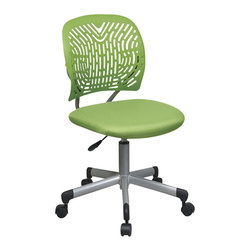 Office Star - Office Star OSP Designs Seating SpaceFlex Task Chair in Green - Office Star - Office Chairs - 1660066