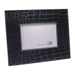 Belle & June - Black Croc Frame - This exquisite, unique frame incorporates elegant patterns within a Lucite panel. The panel depth creates a luminous fresh look perfect for any home decor. The frames are sophisticated, fun and timeless. Comes in gift box. Hand crafted in the USA.