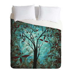 DENY Designs - DENY Designs madart inc Romantic Evening Duvet Cover - Lightweight - Turn your basic, boring down comforter into the super stylish focal point of your bedroom. Our Lightweight Duvet is made from an ultra soft, lightweight woven polyester, ivory-colored top with a 100% polyester, ivory-colored bottom. They include a hidden zipper with interior corner ties to secure your comforter. It is comfy, fade-resistant, machine washable and custom printed for each and every customer. If you're looking for a heavier duvet option, be sure to check out our Luxe Duvets!