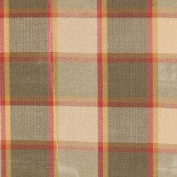 Plaid/Check - Yellow/Sage Upholstery Fabric - Item #1007474-221.