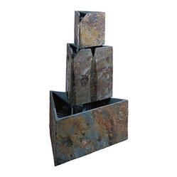 Stacked Triangles Outdoor Fountain