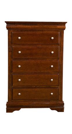 Alpine Furniture - Chesapeake Tall Boy Chest with 5 Drawers - Chesapeake Tall Boy Chest with 5 Drawers