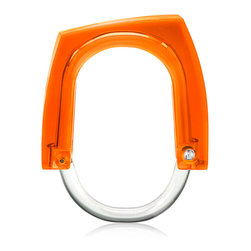 Kontextur - Neon+Squared Curtain Rings - Orange Concentrate - Introducing a collection of irreverent, sexy, sleek curtain rings that can be used to accent window curtains as well as shower curtains. The Neon Squared Rings offer a cost effective way to change the look of a room and add a little bling without breaking the bank. These playful curtain rings bring elements of both high class urban culture and whimsical couture in a combination that is simultaneously bright and elegant. They're undeniable attention grabbers.