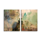 Ready2HangArt - Ready2HangArt Alexis Bueno 'Smash XVIIII' Oversized Canvas 2-piece Wall Art Set - This abstract canvas art is the perfect addition to any contemporary space. It is fully finished, arriving ready to hang on the wall of your choice.