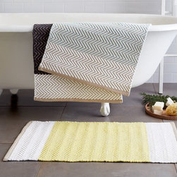 Horizon Stripe Bath Mat - I'm not a fan of floor mats in bathrooms as a general rule, but they are practical for a kids' bath.