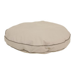 "Carolina Pet Company - Classic Cotton Canvas ""Round-A-Bout"" - The classic bed in round for the pet who likes to curl up.  100% cotton cover is removable for easy machine washing.  100% high loft polyester fill keeps pet off cold floors for added comfort and relief on joints."