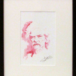 Mark Twain (Original) by Scott Debusk - The writer blooms from the page in each work they do.