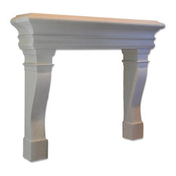 Distinctive Mantel Designs - Santa Cruz Mantel, Linen, 78 - Clean and contemporary, but full of tradition, the Santa Cruz mantel is the epitome of understated elegance.  The Santa Cruz has a large presence, yet it never dominates the room.  The Santa Cruz is perfect for any transitional space.