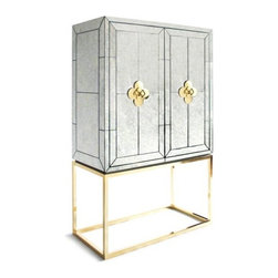 Delphine Mirrored Bar - This one of my all-time favorite pieces. It's pure glamour and perfect for a bar setup — think Ava Gardner and a Hollywood party scene.