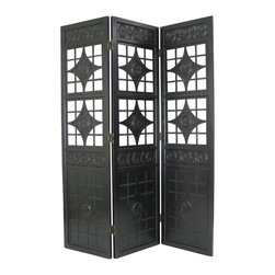 Wayborn - Wayborn Lattice Room Divider in Antique Black - Wayborn - Room Dividers - 2364B -