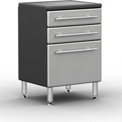 Ulti-Mate - Ulti-MATE Garage Pro 3-drawer Base Cabinet - Ulti-MATE Garage PRO 3-drawer Base Cabinet offers style,strength and more from the most trusted brand,Ulti-MATE. Features unique Polyurethane coated cabinet front in Silver,full radius cabinet profile for custom shop style and much more.