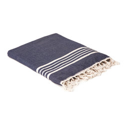 """Indigo&Lavender - 37"""" x 70"""" Hammam Towel, with Terry Lining, Blue - Fabulously colorful hammam towels made of soft high-quality Turkish cotton. Hammam towels are more absorbent and dry more quickly than ordinary bath towels. This towel is doubled with a terry lining for extra absorption power."""