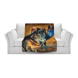 DiaNoche Designs - Fleece Throw Blanket by Teshia - The Watchers - Original Artwork printed to an ultra soft fleece Blanket for a unique look and feel of your living room couch or bedroom space.  DiaNoche Designs uses images from artists all over the world to create Illuminated art, Canvas Art, Sheets, Pillows, Duvets, Blankets and many other items that you can print to.  Every purchase supports an artist!